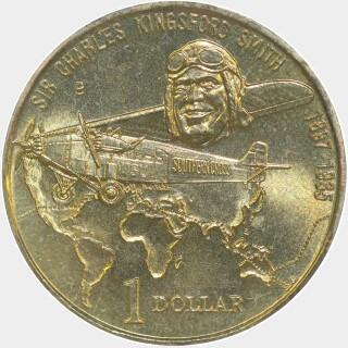 1997-B  One Dollar reverse