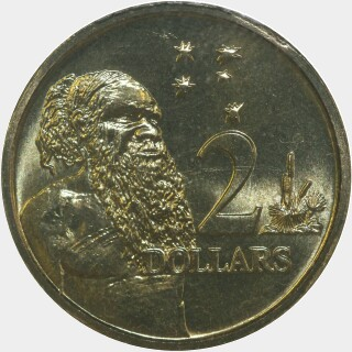 1995  Two Dollar reverse