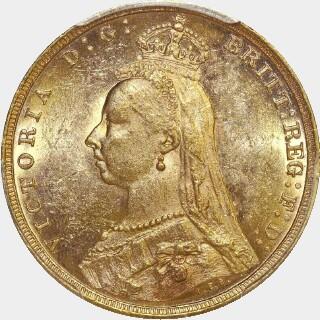 1893-M  Full Sovereign obverse