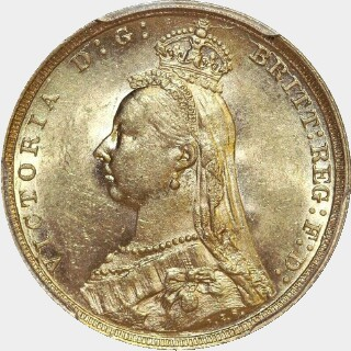 1891-S  Full Sovereign obverse