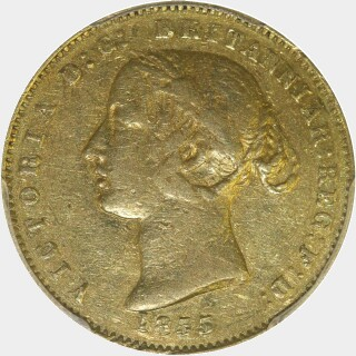 1855  Half Sovereign obverse