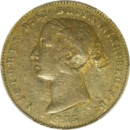 The 1855 Type II Half Sovereign from Spink Australia Sale 15