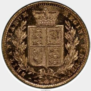 1879-S Specimen Full Sovereign reverse