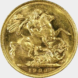 1900-M  Full Sovereign reverse