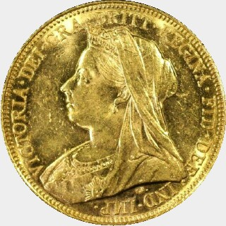 1900-M  Full Sovereign obverse