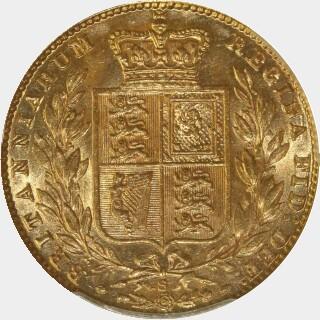 1877-S  Full Sovereign reverse