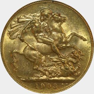 1903-M  Full Sovereign reverse