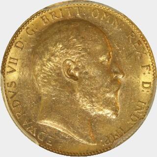 1903-M  Full Sovereign obverse