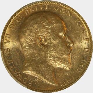 1906-M  Full Sovereign obverse
