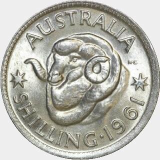 1961  Shilling reverse