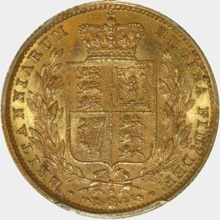 1886-S  Full Sovereign reverse