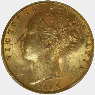1886-S  Full Sovereign obverse