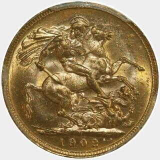 1902-M  Full Sovereign reverse