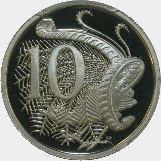 1992 Proof Ten Cent reverse