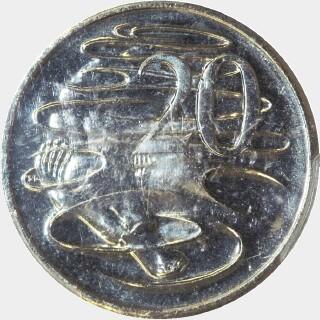 2004 Small Head Twenty Cent reverse