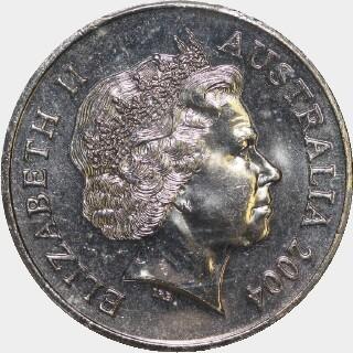 2004 Small Head Twenty Cent obverse