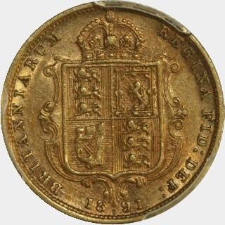 1891-S Sans JEB Half Sovereign reverse