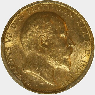 1910-M  Full Sovereign obverse