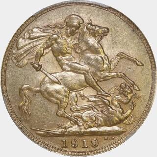 1919-M  Full Sovereign reverse