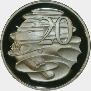 1993 Proof Twenty Cent reverse