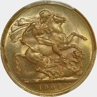 1904-M  Full Sovereign reverse
