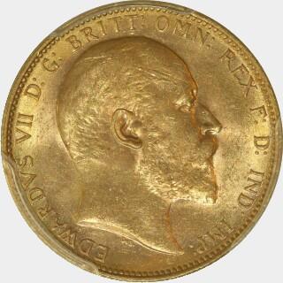 1904-M  Full Sovereign obverse