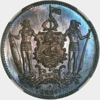1884-H Specimen One Cent obverse