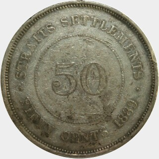 1889  Fifty Cent reverse