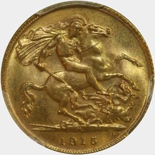 1915-M  Half Sovereign reverse