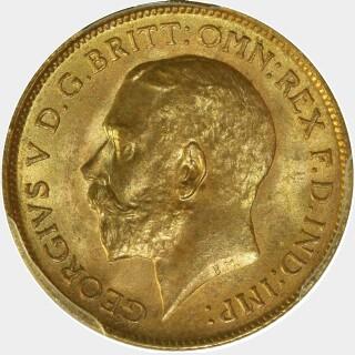 1915-M  Half Sovereign obverse