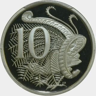 1993 Proof Ten Cent reverse