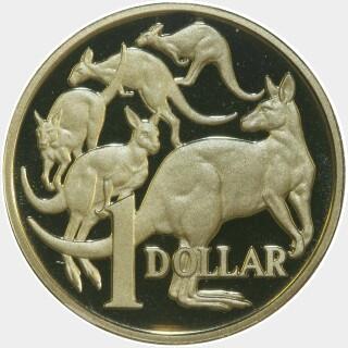 1995 Proof One Dollar reverse