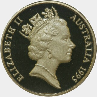 1995 Proof One Dollar obverse