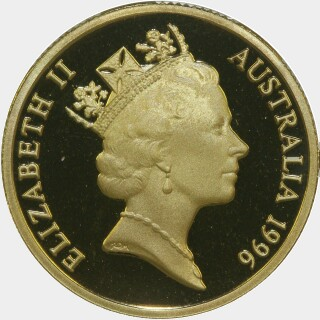 1996 Proof One Dollar obverse