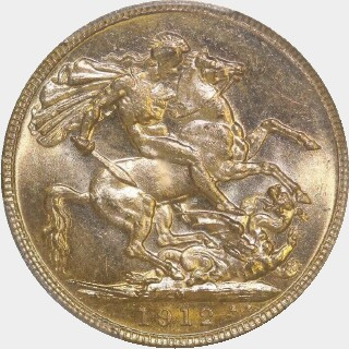 1912-M  Full Sovereign reverse