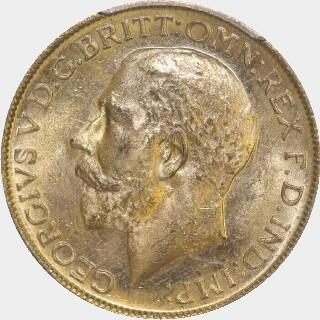 1912-M  Full Sovereign obverse