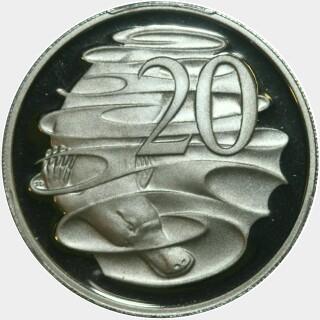 2002 Proof Twenty Cent reverse