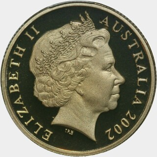 2002 Coloured Proof One Dollar obverse