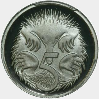 2000 Proof Five Cent reverse