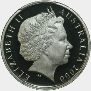 2000 Proof Five Cent obverse