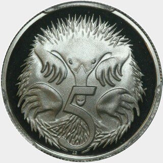 2005 Proof Five Cent reverse