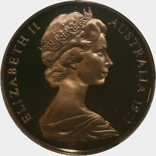 1971 Proof Two Cent obverse