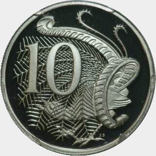 2002 Proof Ten Cent reverse