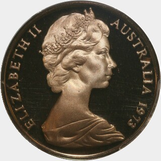 1973 Proof Two Cent obverse