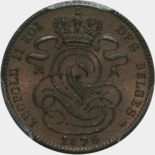 1876  One Cent obverse