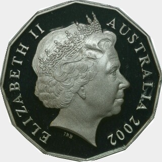 2002 Proof Fifty Cent obverse