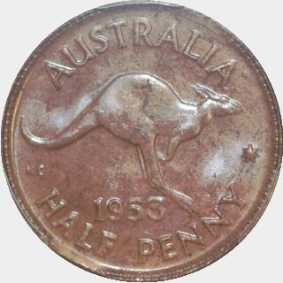 1953-A  Half Penny reverse