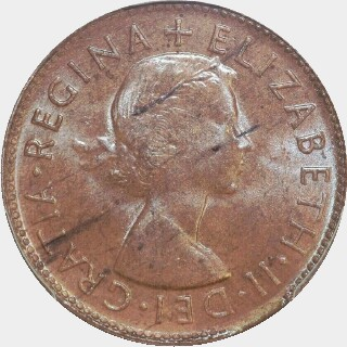 1953-A  Half Penny obverse