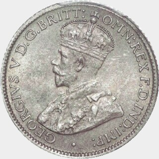1923  Sixpence obverse