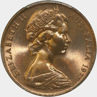 1971  Two Cent obverse
